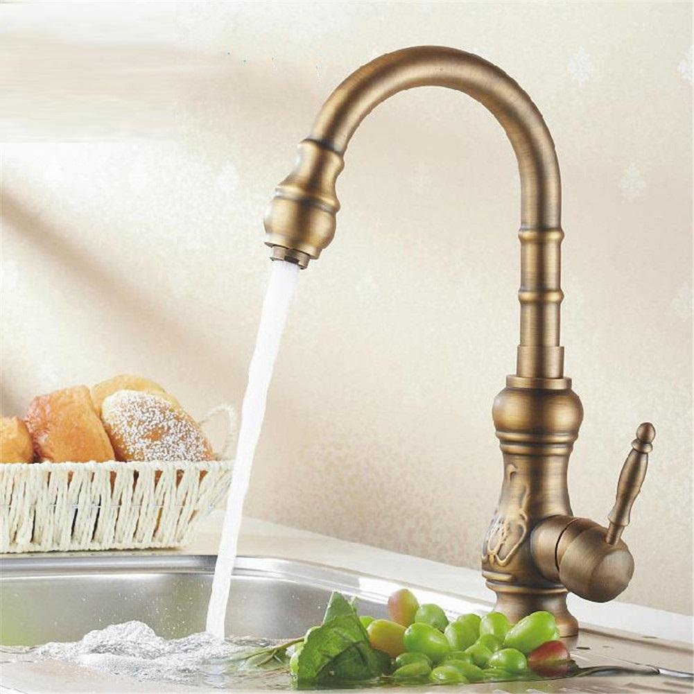 GAOF Antique bronze finish Kitchen faucets kitchen tap basin faucets ...