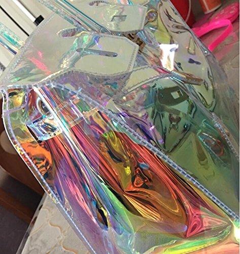 Olici MDRW-Borsetta Donna Il Nuovo Laser Buttati Spalla Spalla Spalla Spalla La Borsa La Mano Nuova Trasparente Cristallino Jelly,oro,Cm | Aspetto estetico  | Conosciuto per la sua bellissima qualità  5cd247