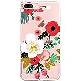 Vanki Custodia iPhone 7 plus Cover iPhone 8 plus Silicone Trasparente TPU Flessibile Sottile Bumper Case per Apple iPhone 7 8