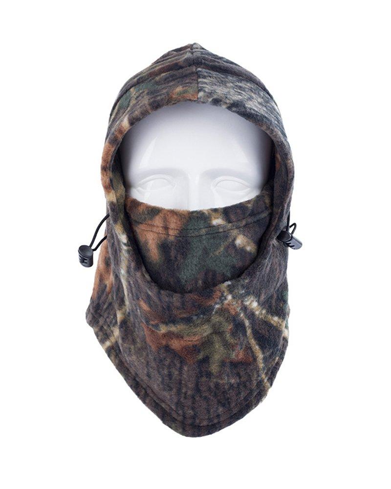 Cagoule hiver VertAst - Masque facial complet pour le ski, cyclisme, randonnée, chasse - Cache-cou ou bonnet chaud Camo7 VERAST
