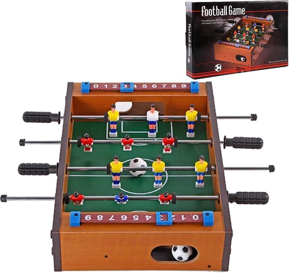 Ydq Futbolín Juego Juguetes, Mesa de Madera Soccer Games Toy, Foosball de Sobremesa Infantil para Niños,Juego de Rompecabezas Entre Padres e Hijos: Amazon.es: Deportes y aire libre