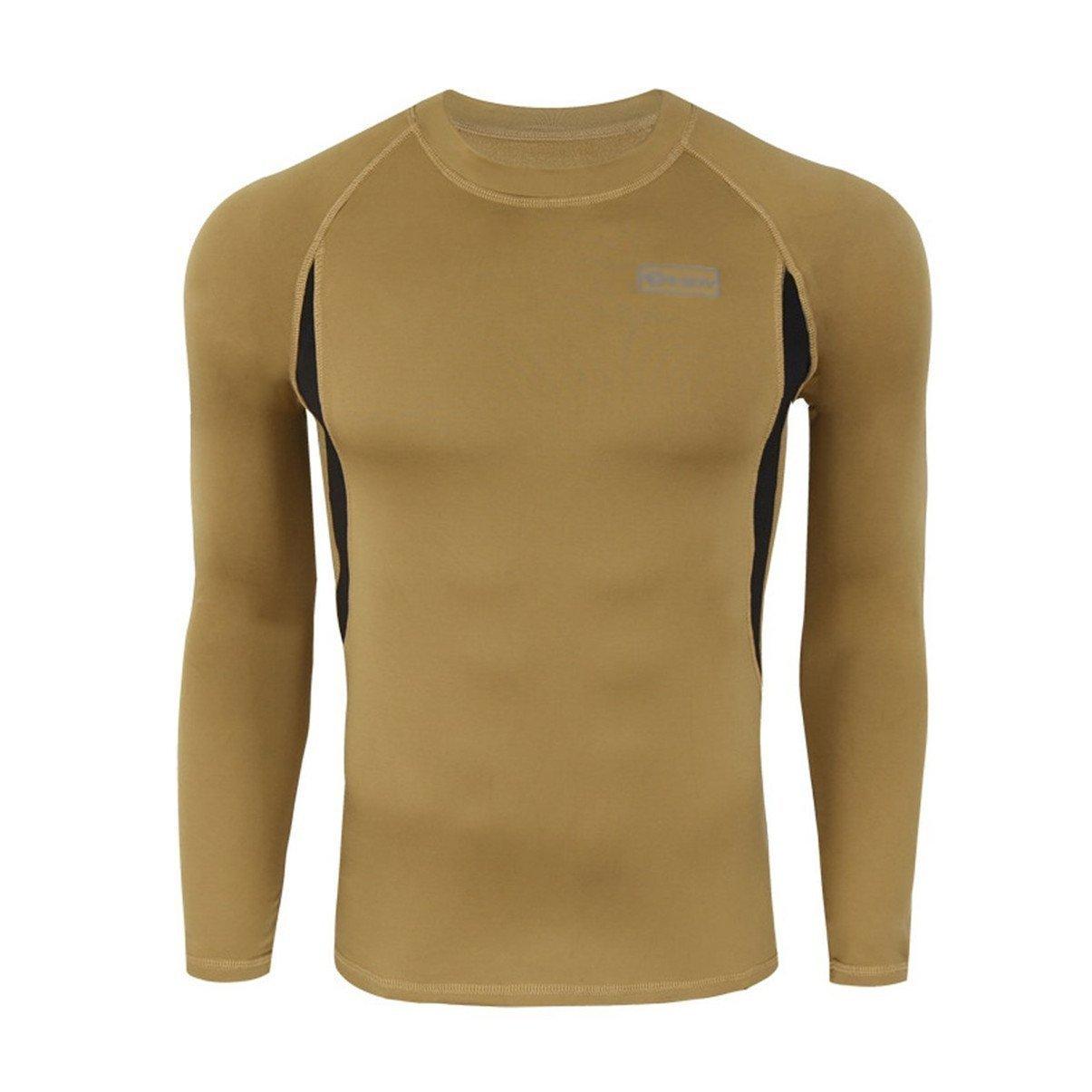 BLF - Conjunto de ropa interior caliente para el invierno, ropa térmica interior para el traje de esquí, manga larga y pantalón largo, color marrón, ...