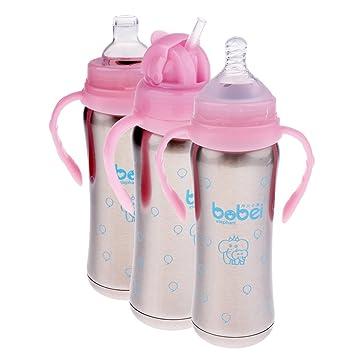 Botella de Agua para Bebés con Aislamiento de Acero ...