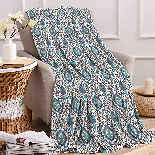 maisi Eastern Digital Printing Blanket Traditional Arabic Ornament with Little Blossoms Moroccan Oriental Culture Elements Summer Quilt Comforter 62