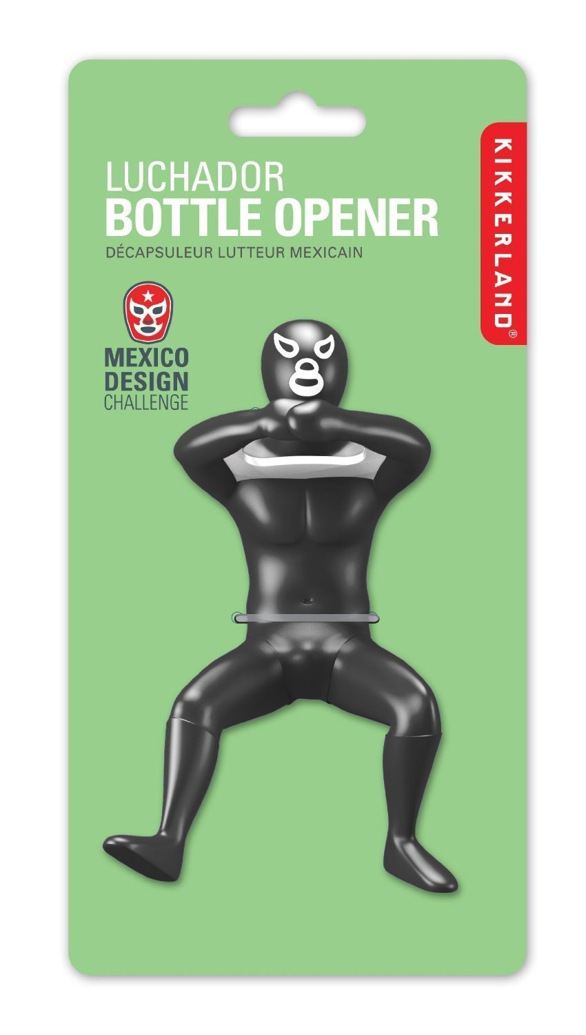 Kikkerland Luchador Bottle Opener, Assorted Colors and Styles BO09-A