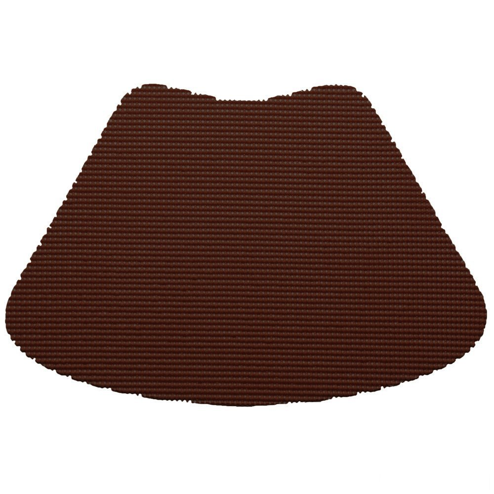 12 Piece Chocolate Fishnet Placemat, Traditional Style, Lace Material, Solid Pattern, Wedge Shape, Machine washable, Perfect For Everyday, Fade Resistant And Durable, Dark Brown