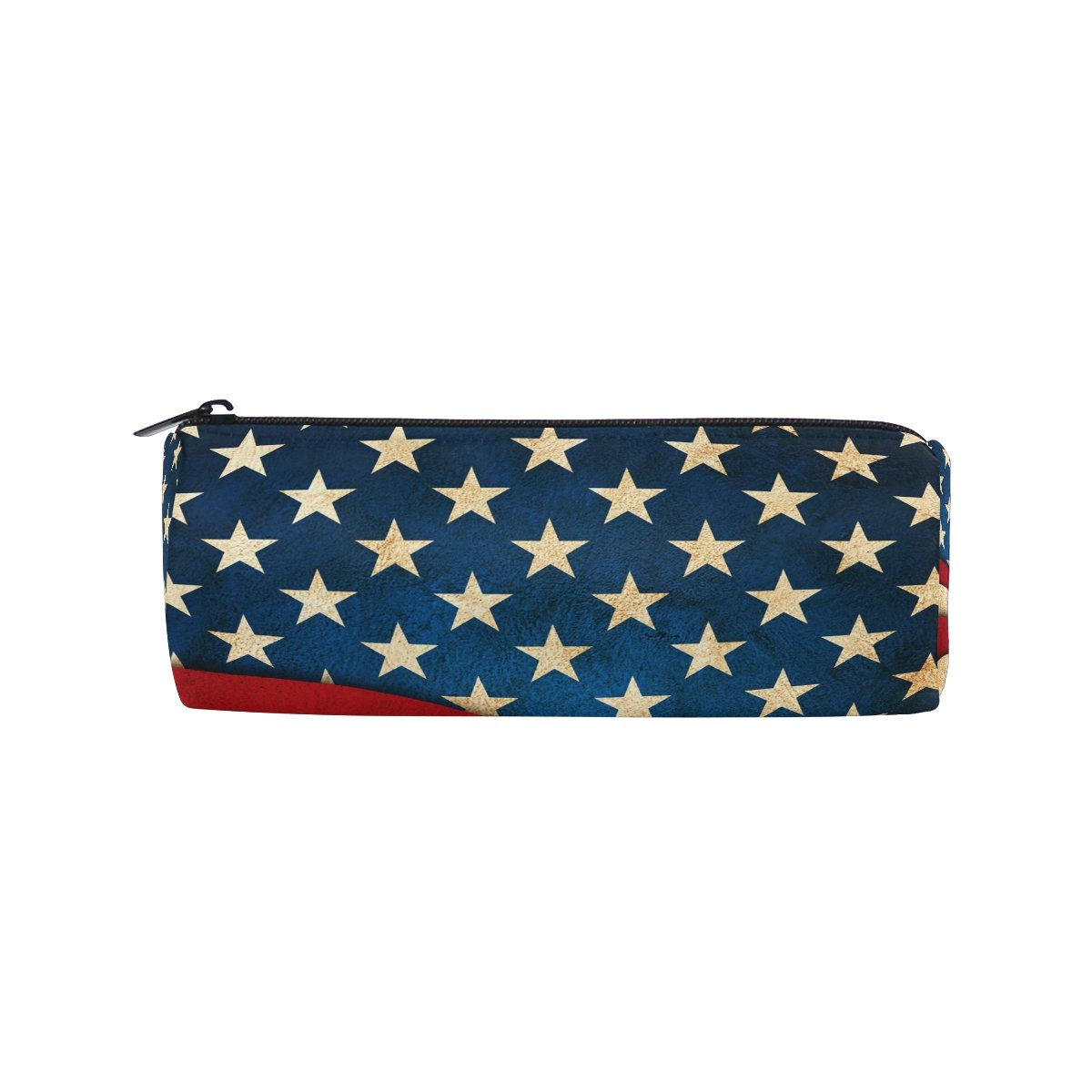 ALAZA Independence Day America Usa Zipper Pencil Case Roll Pen Makeup Bag Holder Box Pouch for Students School Supplies