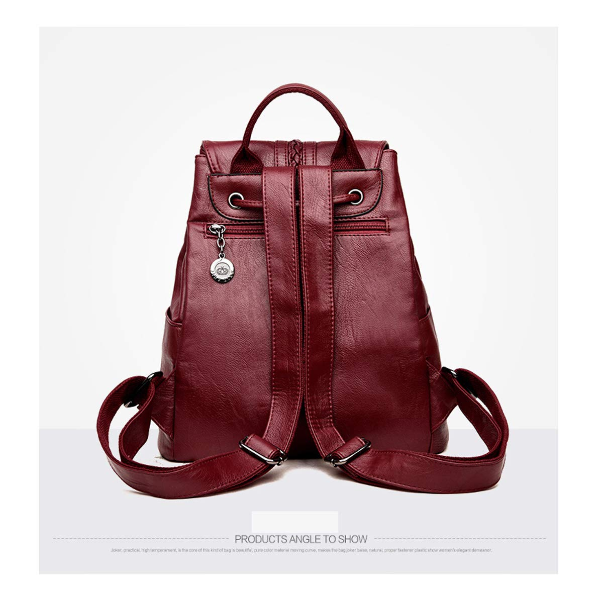PU Leather ZHICHUANG Girls Multipurpose Backpack for Daily Travel//Outdoor//Travel//School//Work//Fashion//Leisure Five Colors for Women /& Men Generous and Simple