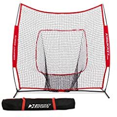 Rukket Sports 7 x 7 Baseball & Softball Practice Net with Bow Frame (Lifetime Warranty) Rukket Sports: Leader in Baseball and Softball Training Gear Rukket Sports' baseball and softball hitting nets and training products outscore their op...
