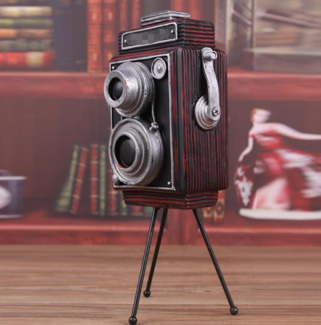 GL&G manual Retro camera model Resin Crafts Northern Europe Home bar Window decoration Props Tabletop Scenes Ornaments Favorite hobbyists Collectible,C