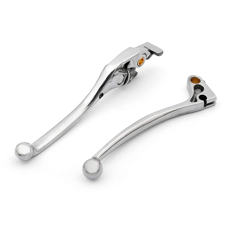 CNC Alluminio Leva Freno Moto Set Leve Freno e Frizione Brake Clutch Levers per HON-DA CB400 MC18 MC21 MC19 MC22 NC23 CB600F CB250 Artudatech Moto Leve freni