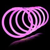 "8"" Lumistick Glowsticks Glow Stick Bracelets PINK (Tube of 100)"