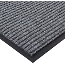 """Durable Corporation Spectra-Rib Entrance Mat, for Indoor and Vestibule Areas, 24"""" Width x 36"""" Length x 3/8"""" Thickness, Gray"""
