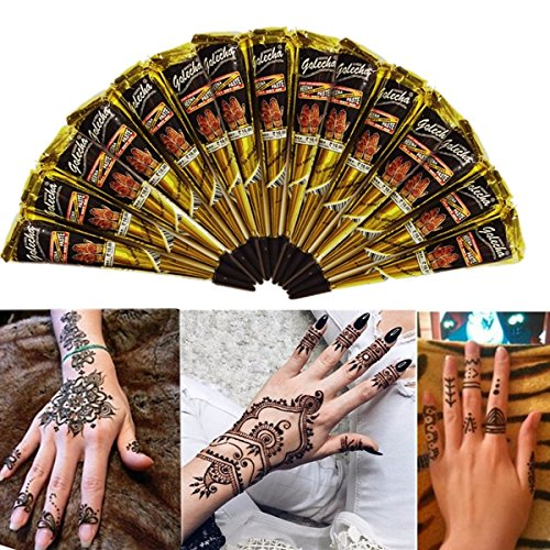 Temporary Tattoos - Black Natural Cone Temporary Tattoo Art