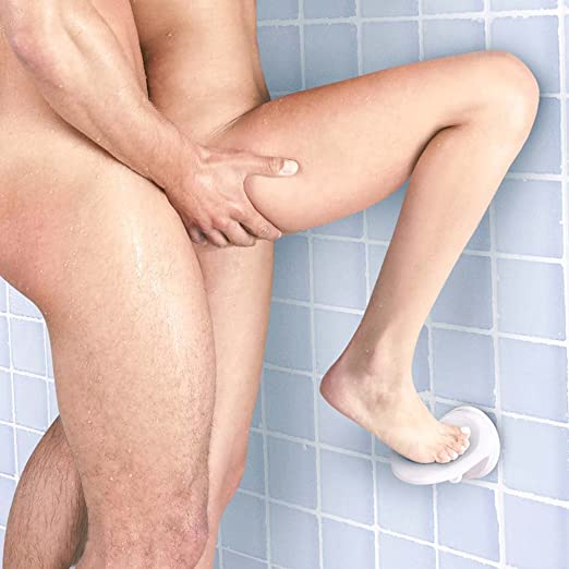 Shower sex footrest and handle
