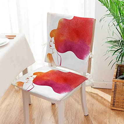 Pleasing Amazon Com Mikihome 2 Piece Set Chair Pad Ombre Sexy Woman Beatyapartments Chair Design Images Beatyapartmentscom