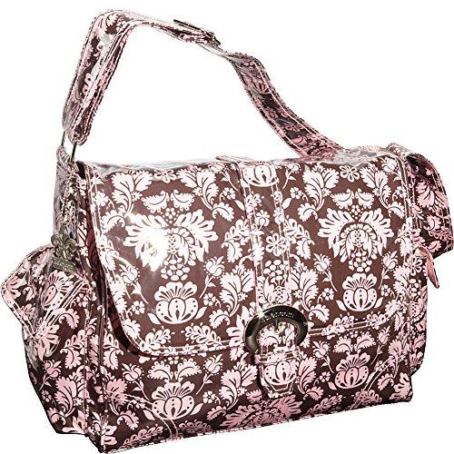 Kalencom Laminated Buckle Bag, Toile Chocolate/Pink