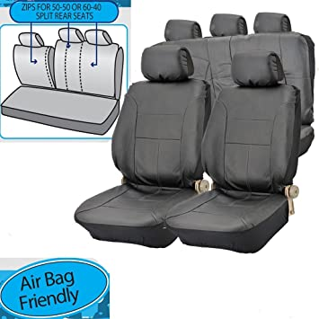 FORD FOCUS C-MAX CAR SEAT COVER PROTECTOR 100/% WATERPROOF HEAVY DUTY BLACK