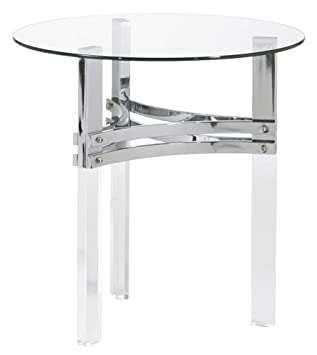 Amazon.com: Ashley T420-6 Braddoni - Mesa de mesa redonda ...