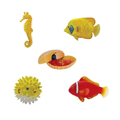 ARTKAL Assorted 4pcs/Set of Ukenn 2nd Generation 3D Coral Fish Puzzles DIY Butterfly Fish/Ball Fish/Tomato Fish/sea Horse Models Kids Educational Toy 2566: Toys & Games