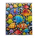Clown Fish Shower Curtain ALAZA U LIFE Ocean Sea Aquatic World Fish Colorful Clown Decorative Shower Curtain Bath Bathroom Curtains 60 x 72 inch