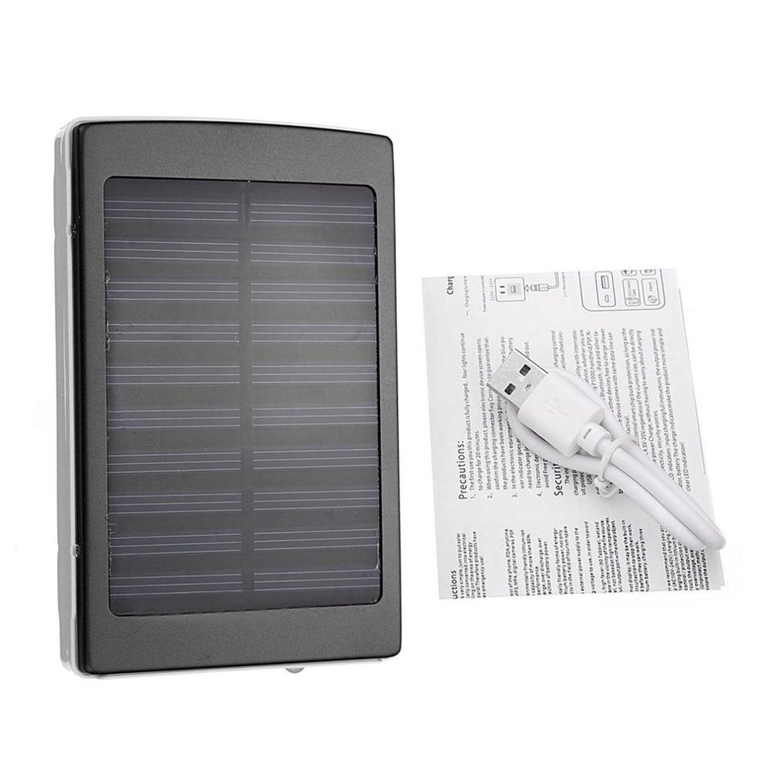 PINCHU Portable Size 50000Mah Large Capacity Solar Panel Power Bank Outdoor External Battery Charger,Black
