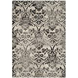 Safavieh Retro Collection RET2184-1180 Cream and Grey Area Rug (4′ x 6′) For Sale