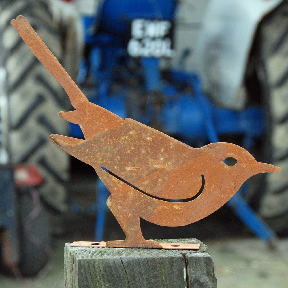 Bluebell Yard - Escultura de Hierro Oxidado, diseño de pájaros