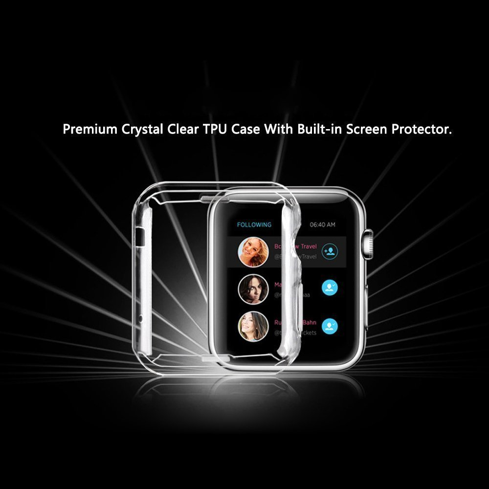 Apple Watch 1 Case Misxi Iphone Tpu Screen Protector All Soft 42mm Crystal Clear Ultra Thin Around Protective 03mm For I Series Mx Iwatch
