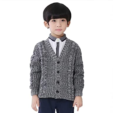 d7d6eb2220ad0 Burning Go 子供服 カーディガン 男の子 セーター ボーイズ vネック ケーブル編み 長袖 ベビー 前開き