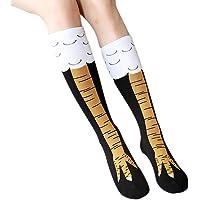 Lookatool Funny Women Girl Casual Chicken Creative Print Cartoon Thigh Socks
