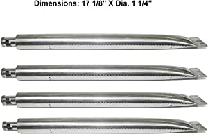 Grill Valueparts REV1051GB (4-pack) Stainless Steel Pipe Burner Replacement For Broil King 92 9765-54, 92 9765-57, 92 9776-44, Broil-Mate 735069B, 735089S, 735269, Grill Pro 224069, 235069B, Huntington 6561-54, 6561-57, Master Forge 288994, 678489, Perfect Flame 276964L, 276967L, Sterling 535069B, 535069R