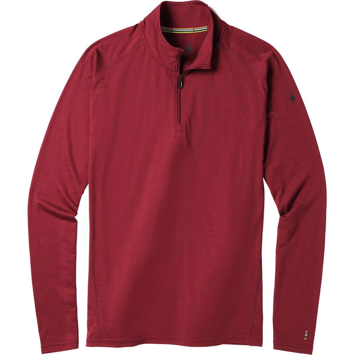 SmartWool Men's Merino 150 Base Layer 1/4 Zip Tibetan Red Medium