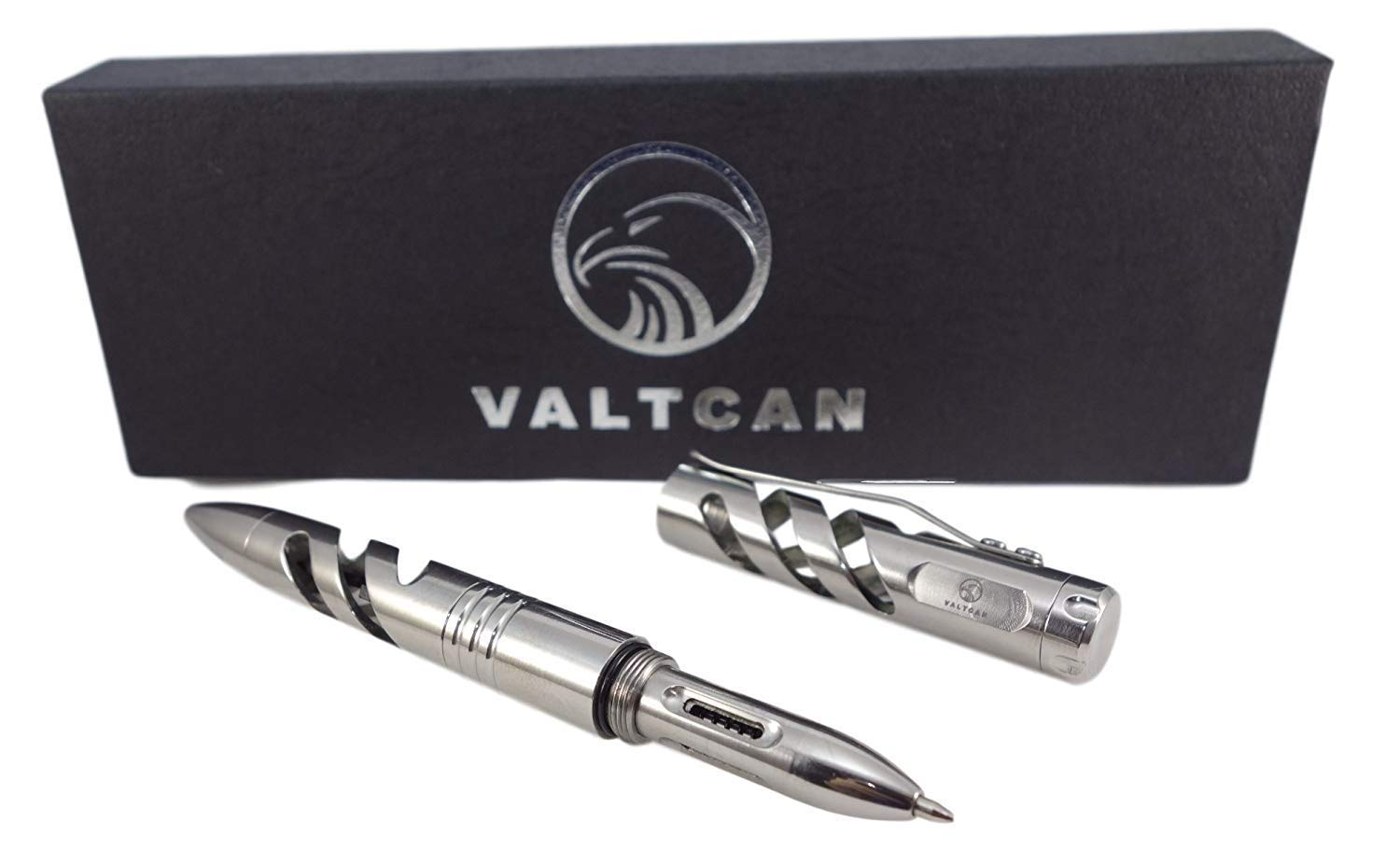 VALTCAN Titanium Tactical Pen Aircraft Jet Bullet Design