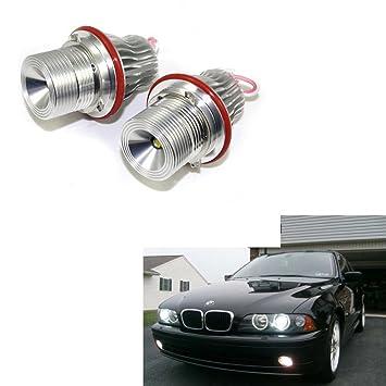 Eaglerich 2XE39 10w Angel eyes marcador LED para BMW E39 E64 plata E60 E66 E83 E87