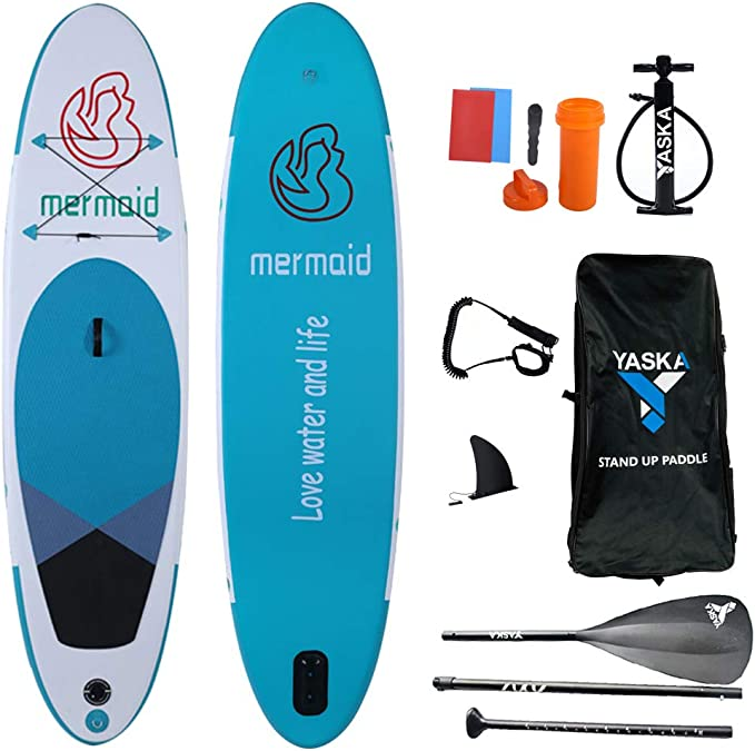 YASKA SUP Paddle 3 Piece Adjustable Stand Up Paddle Board Paddles with Aluminum Shaft