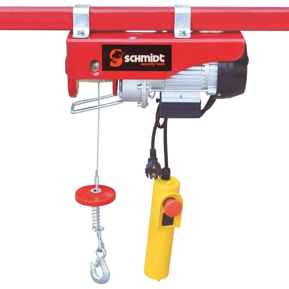 SCHMIDT security tools elektrische Seilwinde Motorwinde Flaschenzug Kran Seilzug Winde fü r bis zu 200 kg