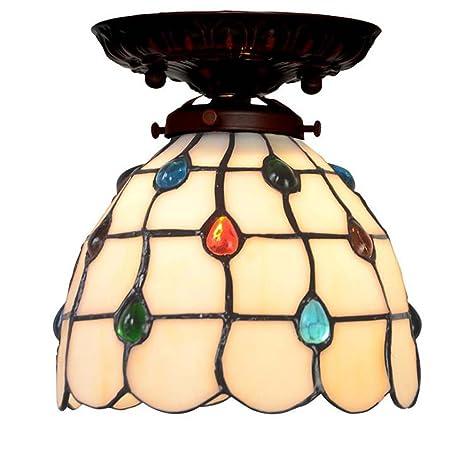 7 pulgadas estilo Tiffany Luces de techo Diseño de cortina ...
