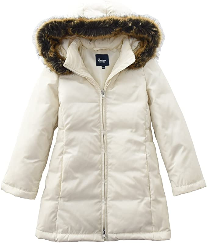 Hiheart Girls Winter Coats with Hood Thick Padded Puffer Jackets