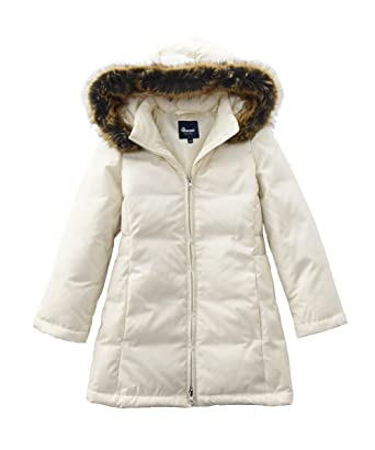 044182828 Amazon.com  Hiheart Girls Faux Fur Hooded Down Puffer Jacket Winter ...