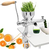 Moongiantgo Manual Wheatgrass Juicer Extractor Stainless Steel Manual Juicer for Juicing Wheat Grass Celery Kale Spinach Pars
