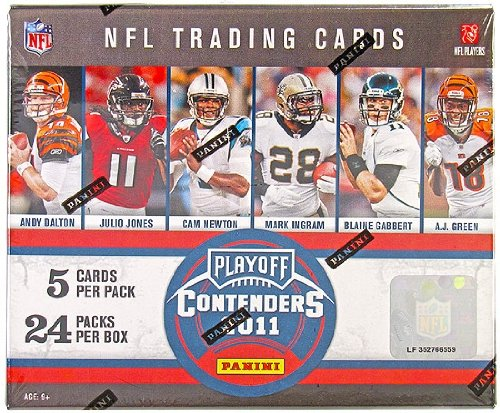 1 (One) Box - 2011 Panini Playoff Contenders Football Hobby Box (24 Packs per Box) - Possible Colin Kaepernick, Cam Newton, Andy Dalton, A.J. Green, Julio Jones, Cameron Jordan, Von Miller, Cecil Shorts III, J.J. Watt, and/or DeMarco Murray Rookie Cards!!!!