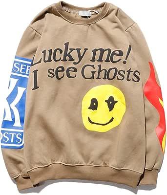 NICEGOOD Kanye Lucky Me I See Ghosts Hoodie Hip Hop Heavyweight Hooded Gray