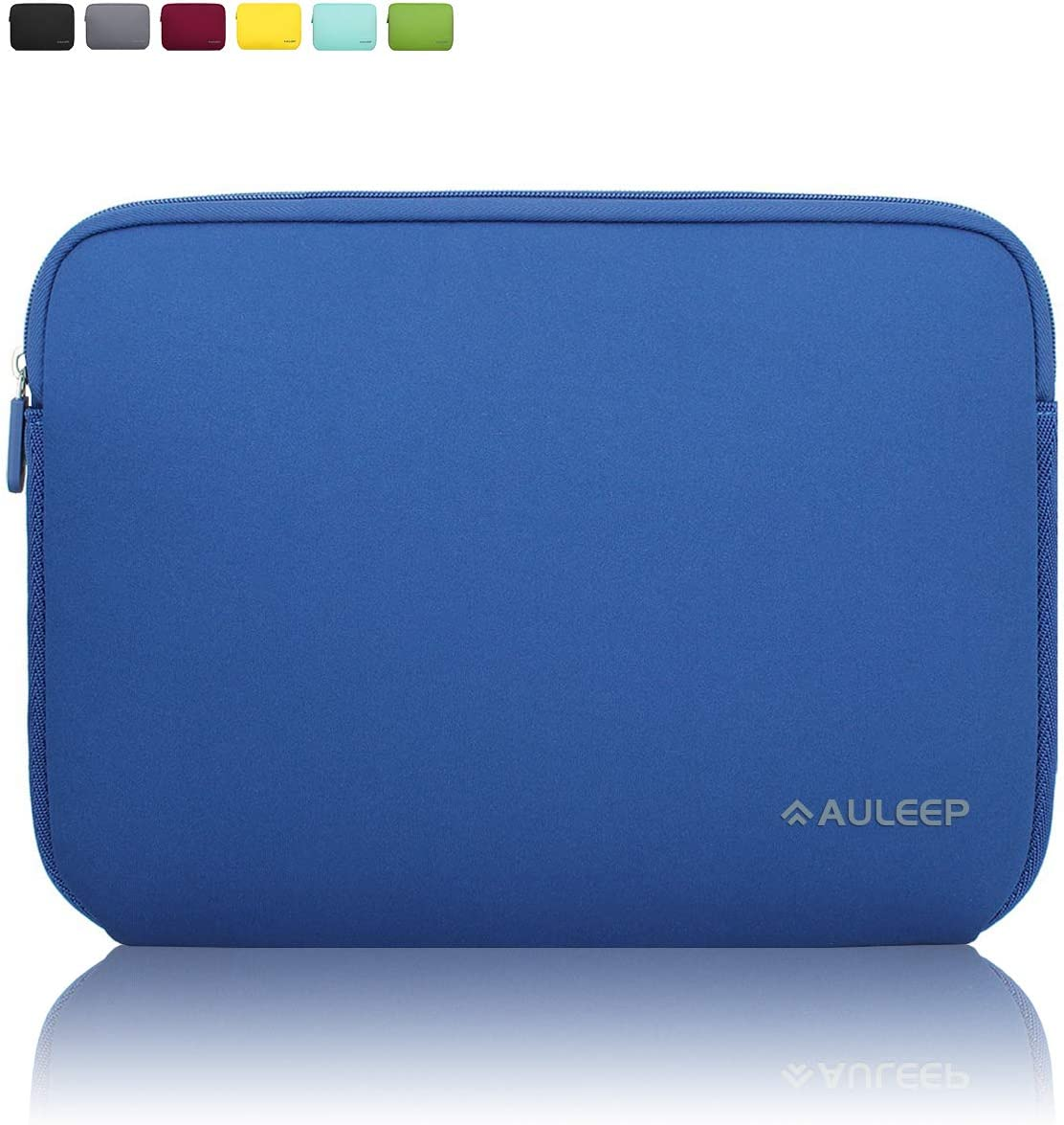 AULEEP 13-14 Inch Laptop Sleeves, Neoprene Notebook Computer Pocket Tablet Carrying Sleeve/Water-Resistant Compatible Laptop Sleeve for Acer/Asus/Dell/Lenovo/HP, Dark Blue