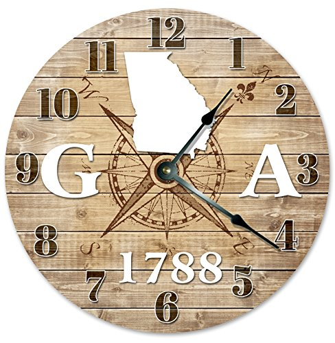 GEORGIA CLOCK Established in 1788 Decorative Round Wall Clock Home Decor Large 10.5