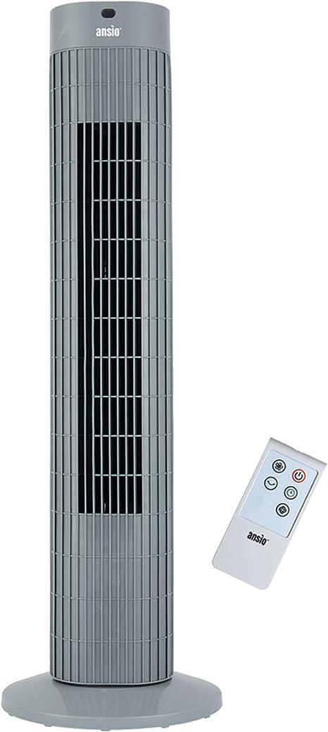 115 cm avec t/él/écommande Ventilateur colonne oscillant 55 W