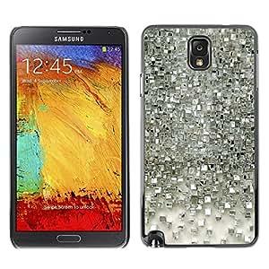 Be Good Phone Accessory // Dura Cáscara cubierta Protectora Caso Carcasa Funda de Protección para Samsung Note 3 N9000 N9002 N9005 // Polygon Silver Mirror Reflective 3D