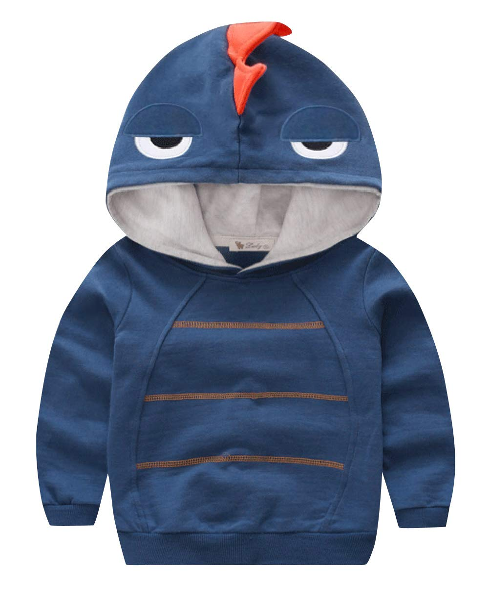 Boys Autumn Long Sleeve Strip Dinosaur Hoodie Toddler Outwear Clothes Aivtalk