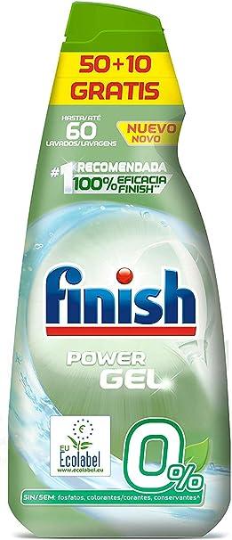 Finish Powerball 0% - Detergente gel para lavavajillas ecológico ...