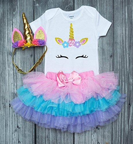 Unicorn bodysuit - unicorn party - unicorn party - first birthday girl - 1st birthday - 12 months - unicorn headband - unicorn outfit - birthday (Infant Magical Unicorn Costumes)